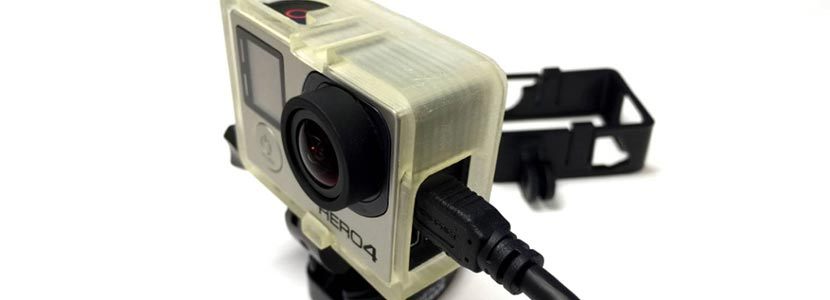 3D printed GoPro camera accessory
