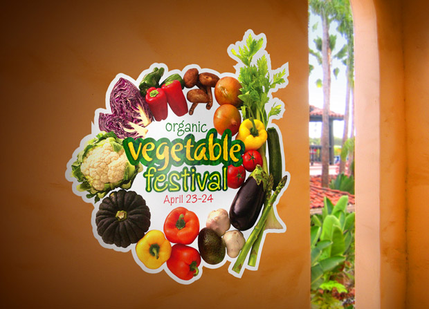 vegetable festival wall decal