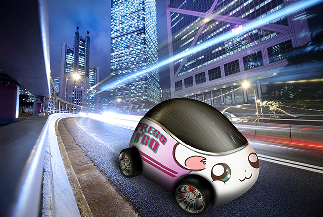 self drive car vehicle wrap anime character