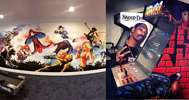 Gamut Media Snoop Dogg game room mural and custom game wraps